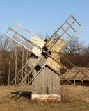 Wooden old mill. Ukrainian village. Stock Image