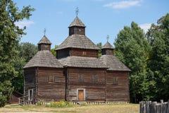Wooden Old Orthodox Church. Kiev, Ukraine Royalty Free Stock Photography