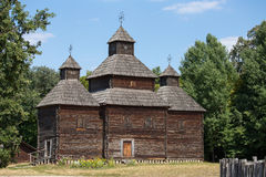 Wooden old orthodox church. Kiev, Ukraine Royalty Free Stock Photography