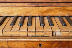 Wooden Old Piano Royalty Free Stock Photo