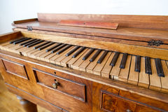Wooden Old Piano Stock Image