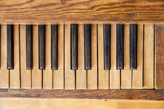 Wooden Old Piano Royalty Free Stock Image