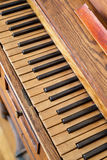Wooden Old Piano Stock Photography