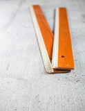 Wooden old rules Royalty Free Stock Photo