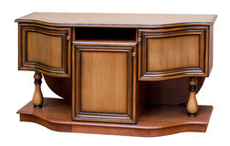 Wooden old stile bureau Stock Photo