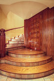 Wooden old style staircase Stock Photography