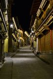 Wooden old town of Shangri La, Xianggelila, Zhongdian, of Yunnan province, close to Tibet, China royalty free stock photo