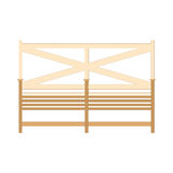 Wooden One Park Bench Isolated on White Background. Vector Royalty Free Stock Photos
