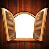 Wooden Open Window Royalty Free Stock Image