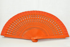 Wooden orange fan Stock Image