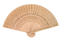 Wooden oriental fan Royalty Free Stock Photo