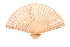 Wooden oriental fan Stock Photos