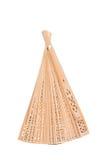 Wooden oriental fan Stock Photo