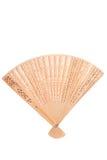 Wooden oriental fan Royalty Free Stock Photo
