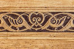 Wooden oriental pattern in Dulber palace, Crimea, Ukraine, background. Wooden, oriental pattern in Dulber palace, Crimea, Ukraine, engraving, background Royalty Free Stock Image