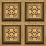 Wooden ornament. Square shaped door ornament made by craftsman Stock Photography