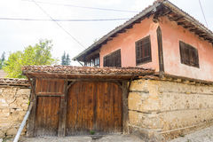 The stone and wood architecture in Koprivshtitsa, Bulgaria Royalty Free Stock Images