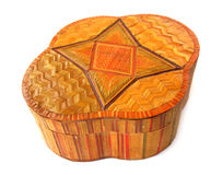 Wooden ornament box Royalty Free Stock Photos