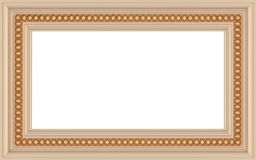 Wooden ornamented empty picture frame isolated Stock Photography