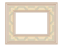 Wooden ornamented picture frame isolated Stock Photography