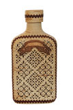 Wooden ornate bottle Royalty Free Stock Photography