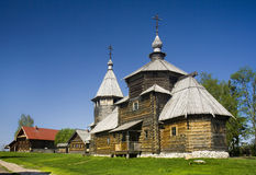 Wooden orthodox church Royalty Free Stock Images