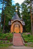 Wooden orthodox church Stock Photography
