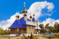 Wooden Orthodox church Royalty Free Stock Photo