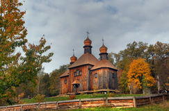 Wooden orthodox church Stock Photo