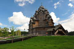Wooden Orthodox Church - Church of the intercession in the estat Royalty Free Stock Photo
