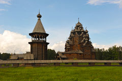 Wooden Orthodox Church - Church of the intercession in the estat Royalty Free Stock Photography
