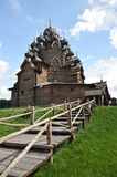 Wooden Orthodox Church - Church of the intercession in the estat Stock Photography