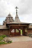 Wooden Orthodox Church - Church of the intercession in the estat Royalty Free Stock Images