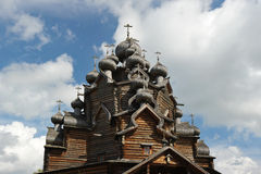 Wooden Orthodox Church - Church of the intercession in the estat Royalty Free Stock Photos
