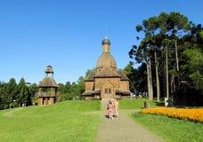 Wooden orthodox church in Curitiba city, Brazil Royalty Free Stock Photo