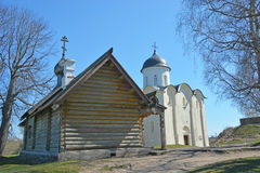 The wooden Orthodox Church of Dmitry Solunsky Stock Images