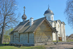 The wooden Orthodox Church of Dmitry Solunsky Royalty Free Stock Photography