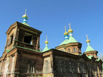 Wooden orthodox church Stock Image