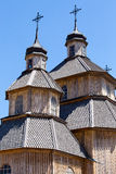 Wooden orthodox church in Kiev, Ukraine Stock Image