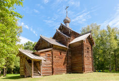 Wooden orthodox church in the museum of wooden architecture Royalty Free Stock Photo