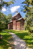 Wooden orthodox church in Novgorod, Russia Stock Photography