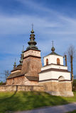 Wooden Orthodox church in Owczary, Poland Stock Image