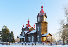 Wooden Orthodox Church Stock Images