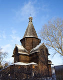Wooden orthodox church in winter Stock Photos