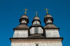 Wooden Orthodox Temple in Ukraine Stock Images