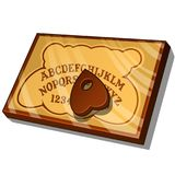 Wooden Ouija Board with English letters. Vector illustration in cartoon style isolated on white. Background Stock Photography