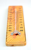 Wooden Out of Order  Thermometer Stock Image