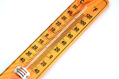 Wooden Out of Order  Thermometer Stock Photography