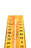 Wooden Out of Order  Thermometer Royalty Free Stock Image