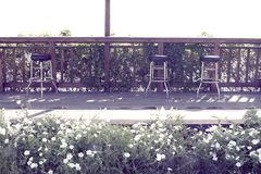 Wooden outdoor bar. royalty free stock photo